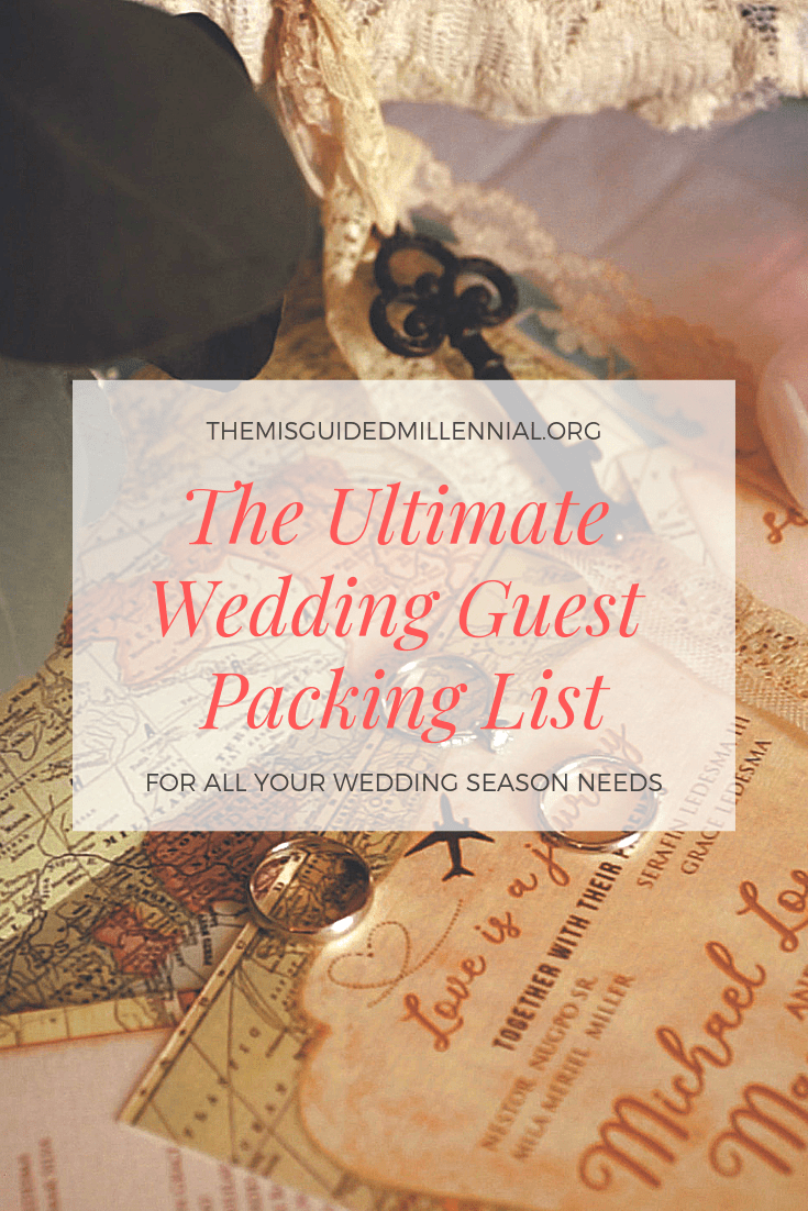 The Ultimate Wedding Guest Packing List - The Misguided