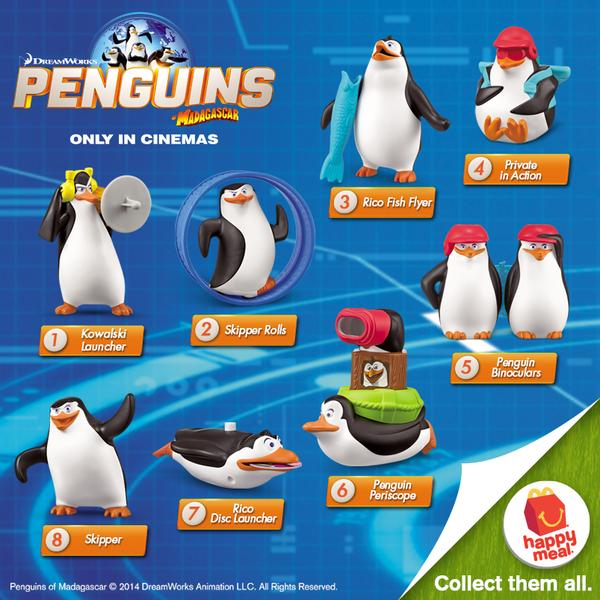 Penguins Of Madagascar In McDonald's Happy Meals