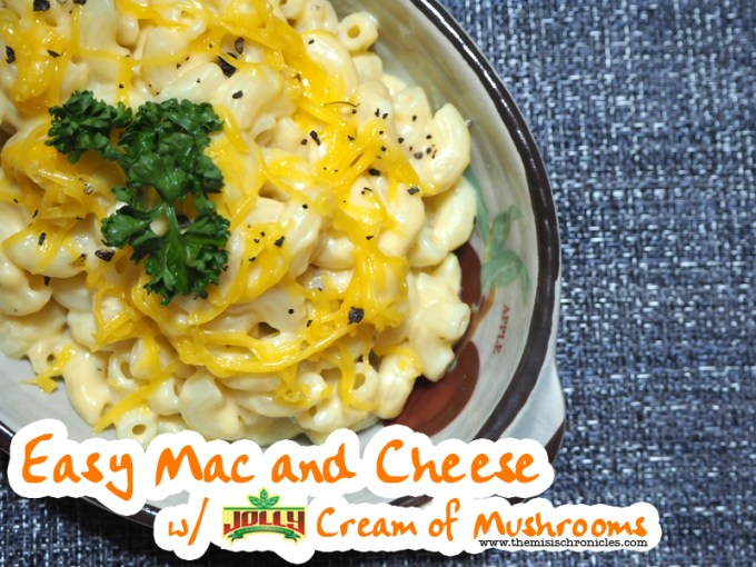 easy mac and cheese with jolly cream of mushrooms