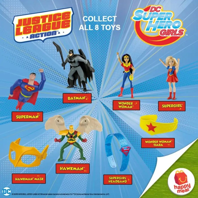 mcdonalds justicle league happy meal