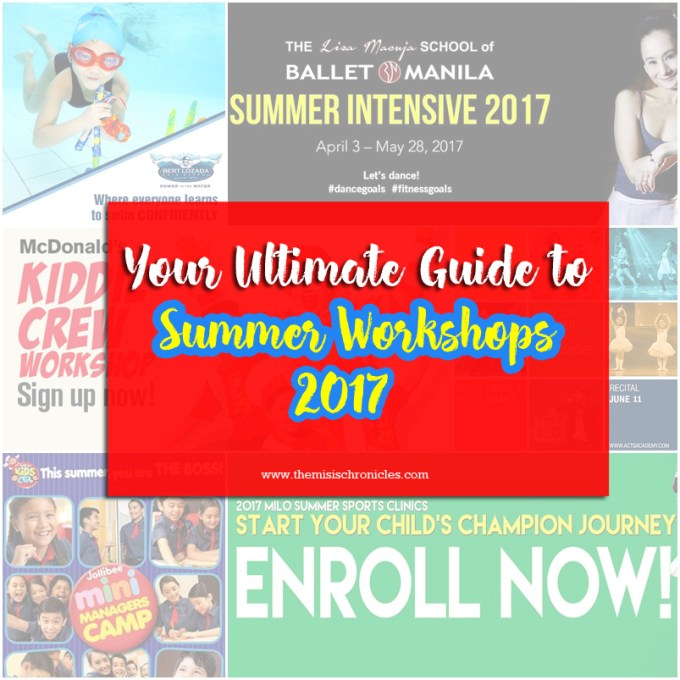 2017 summer workshops for kids