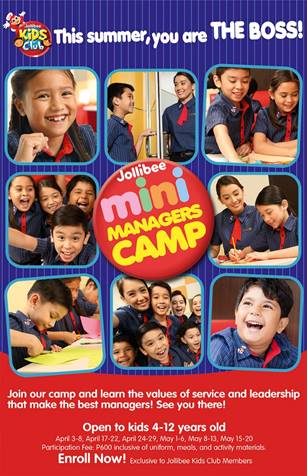 jollibee mini managers camp 2017