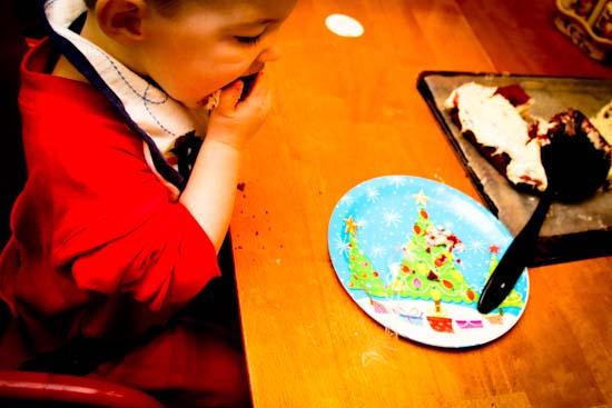 celebrating jesus with Jesus birthday cake