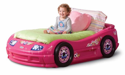Pink Little Tykes Bed