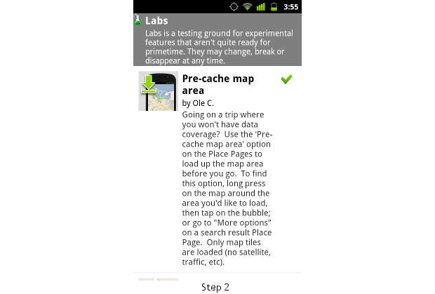 How to pre-cache Google Maps on Android