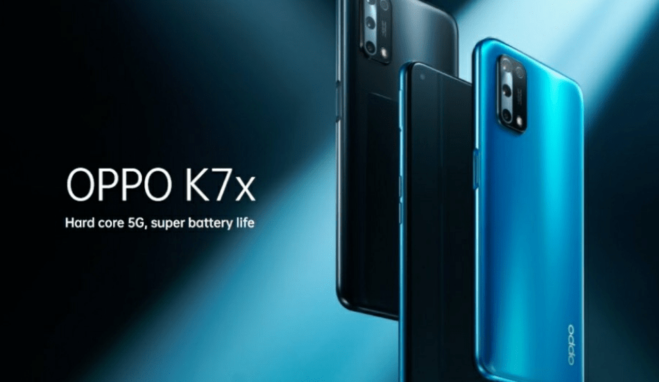 Oppo K7x launched with 5G connectivity and MediaTek Dimensity 720 processor