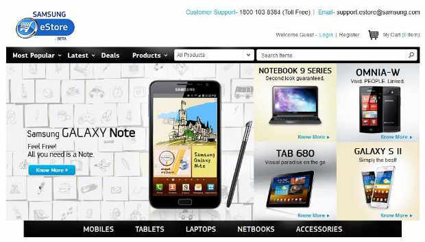 Samsung launches online store for phones, tablets