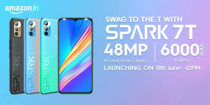 Tecno Spark 7T launched in India with Helio G35, 48MP camera, 6000mAh battery
