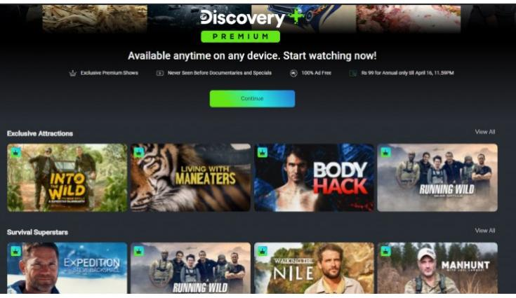 Discovery Plus app is now available on Amazon Fire TV