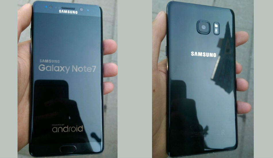 Samsung Galaxy Note 7R live images leaked online