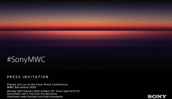 Sony sets a date for MWC 2020 event