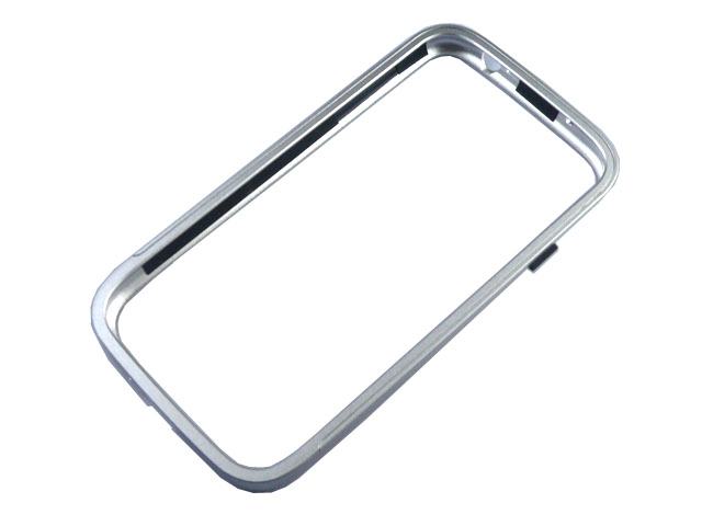 Aluminium Bumper Skal till Samsung Galaxy S4 i9500 (Silver