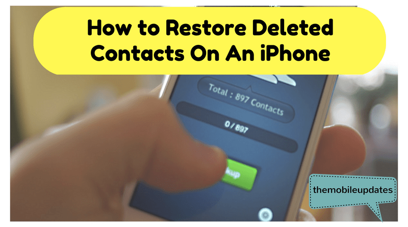 how to retrieve deleted contacts iphone how to restore deleted contacts on an iphone 1941