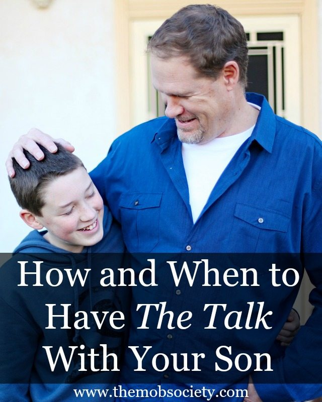 how and when to have the talk with your son