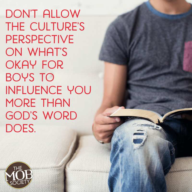 I don't think there's a specific equation we can use for raising godly kids. But there is a way to create a framework for godly behavior in our boys.