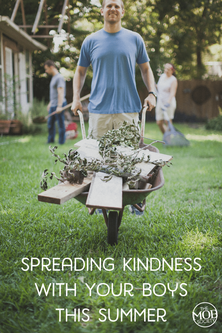 Here are five of Julie's favorite ways to spread kindness with her boys this summer! #PlanBeSummer