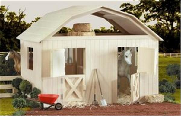 Breyer traditional two stall horse barn 305