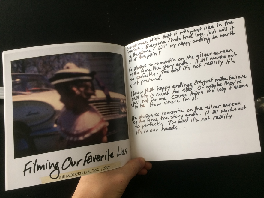 Handwritten Lyric Book - The Modern Electric