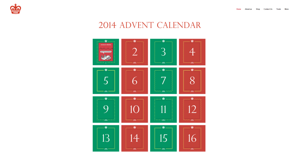 Modern Toss Advent Calendar