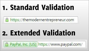SSL: Standard vs Extended Validation