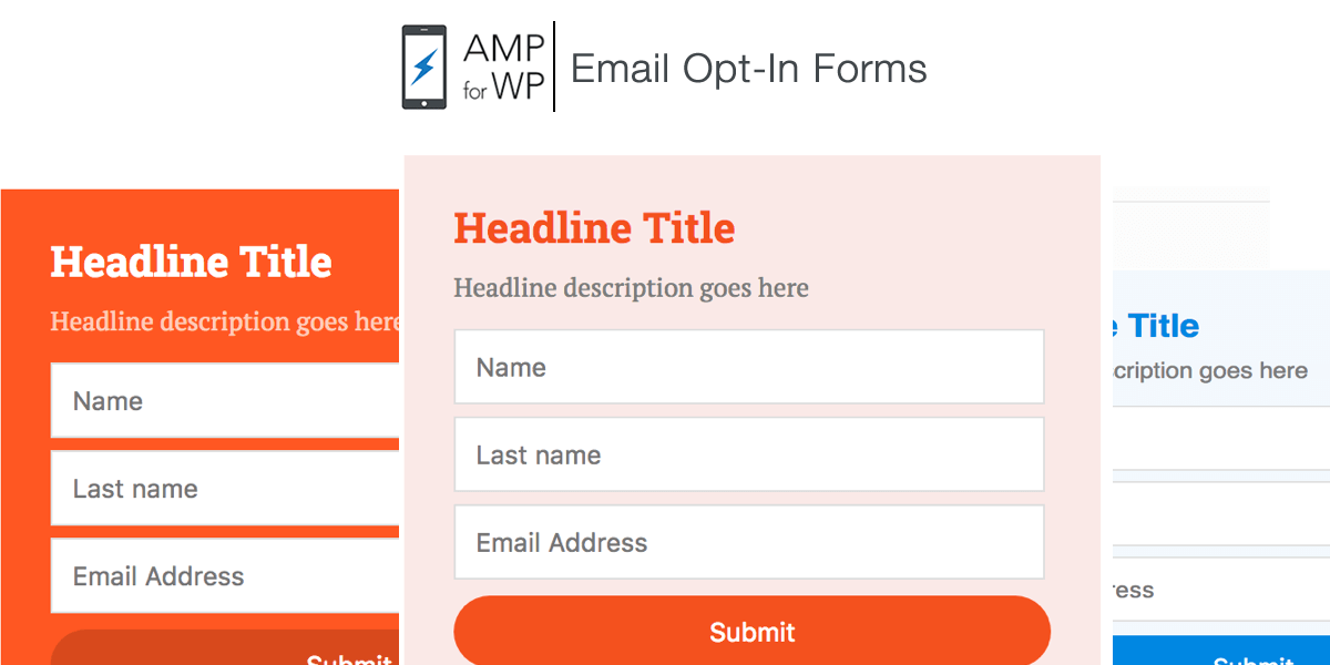 AMP For WP: Email Opt-In Forms