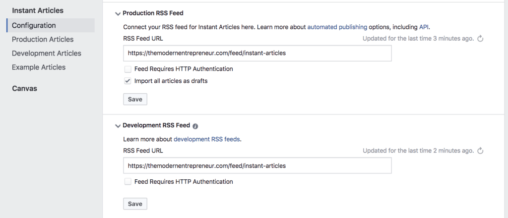 Refresh Your Facebook Instant Articles