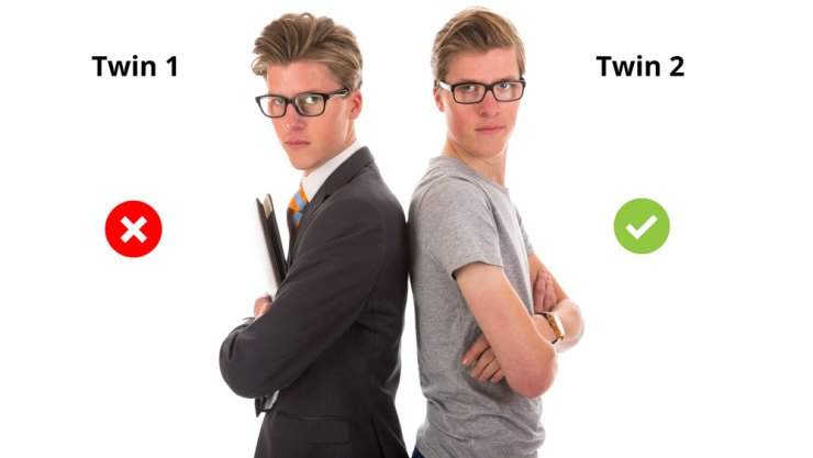 Which twin is more attractive to women?
