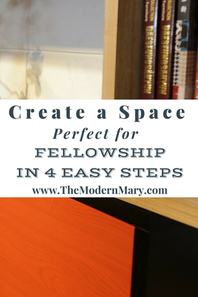 Create a space perfect for fellowship in just four easy steps!