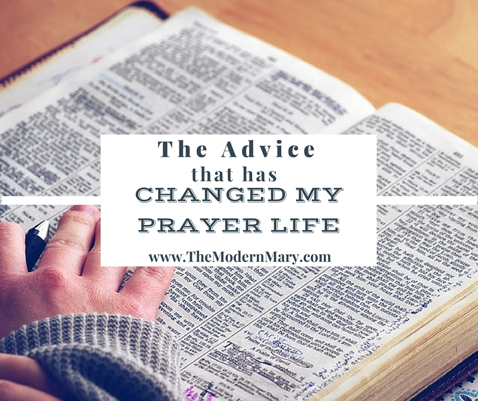 The BEST Prayer Advice I Have Ever Received