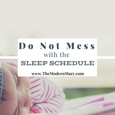 Don't Mess With the Sleep Schedule