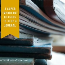Ever wonder if you should keep a journal? Check out these 3 important reasons to keep one and you'll starting writing today!
