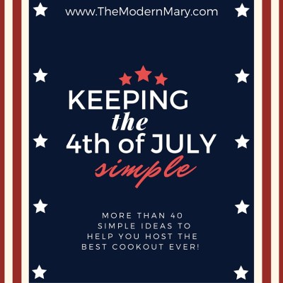 Keeping the 4th of July Simple