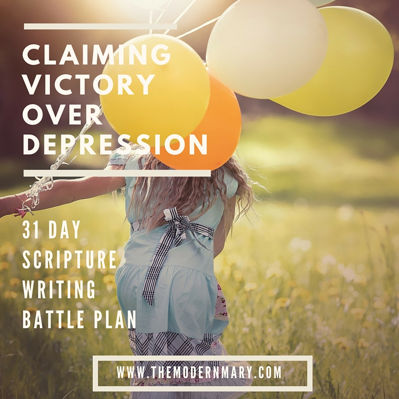 What do you do when depression or anxiety strikes? Get a plan! Arm yourself with the Word of God. Here are 31 scriptures to write in your prayer journal that will help you overcome depression.