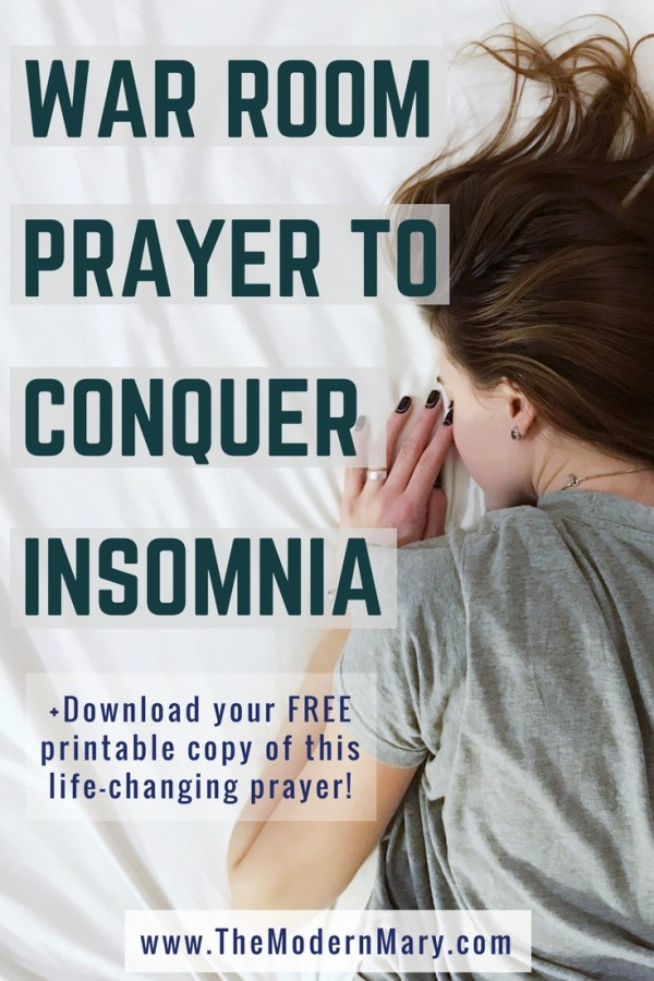 11 Verses to Help you Sleep. Powerful War Room Prayer #FreePrintable #Insomnia #WarRoom