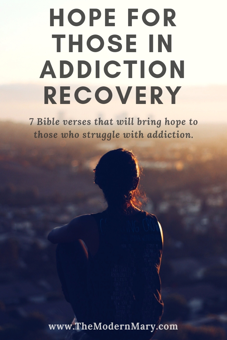 These seven verses offer hope for those who are in recovery from addiction. Addiction is a vicious beast and these Bible verses will provide hope and comfort.
