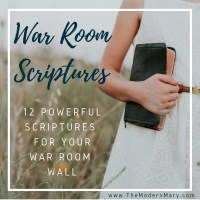 12 Powerful Scriptures for your War Room Wall