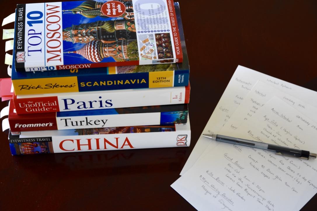 Tour guidebooks