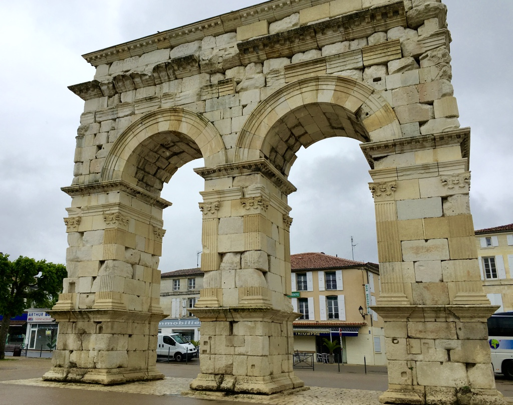 The Arc de Germanicus sits on the banks of the Charente River in Saintes, France.