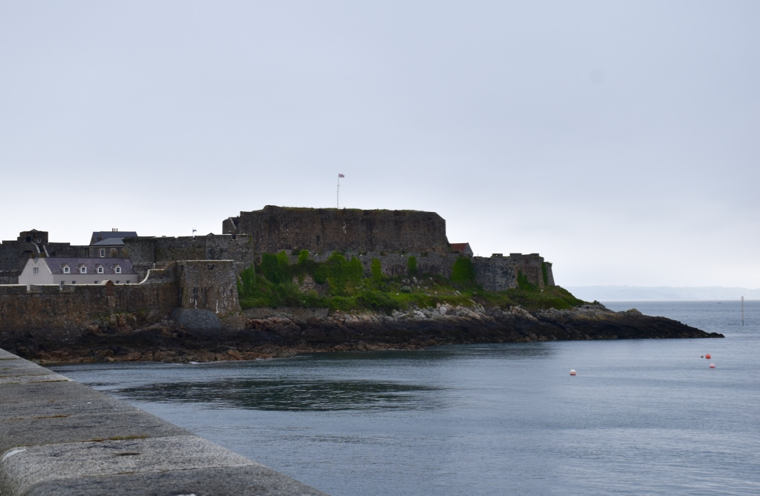 The moody and forlorn Castle Cornet at Saint Peter Port on the island of Guernsey.