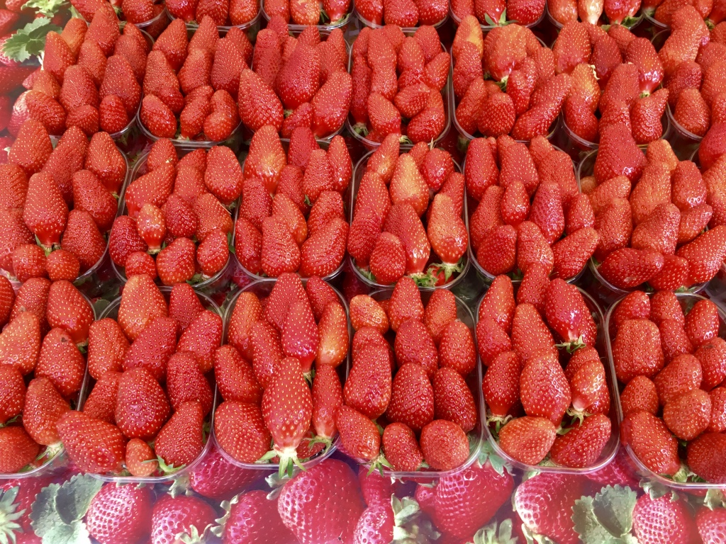 honfleur farmers market strawberries