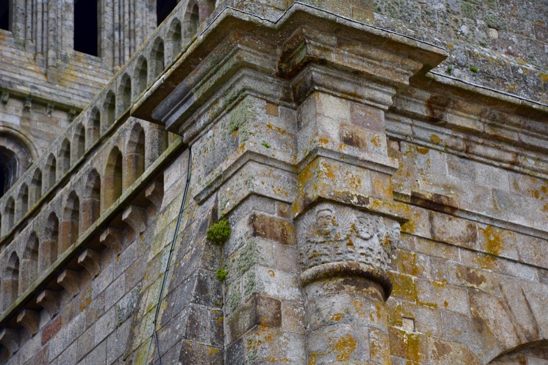 mont saint michel architectural detail