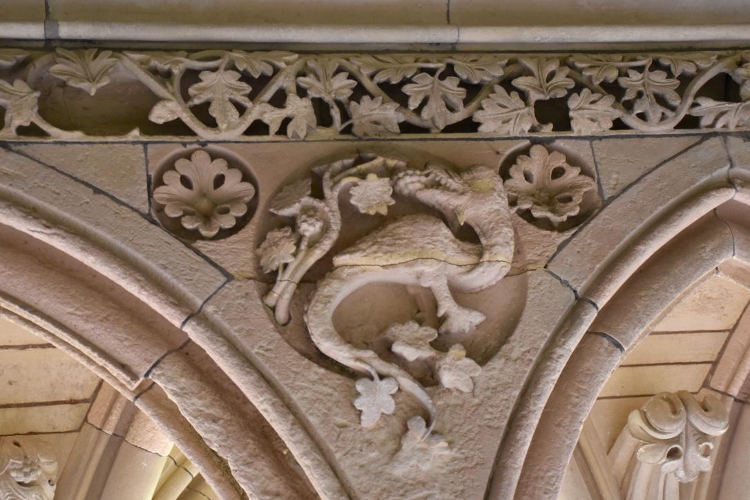 mont saint michel cloister detail