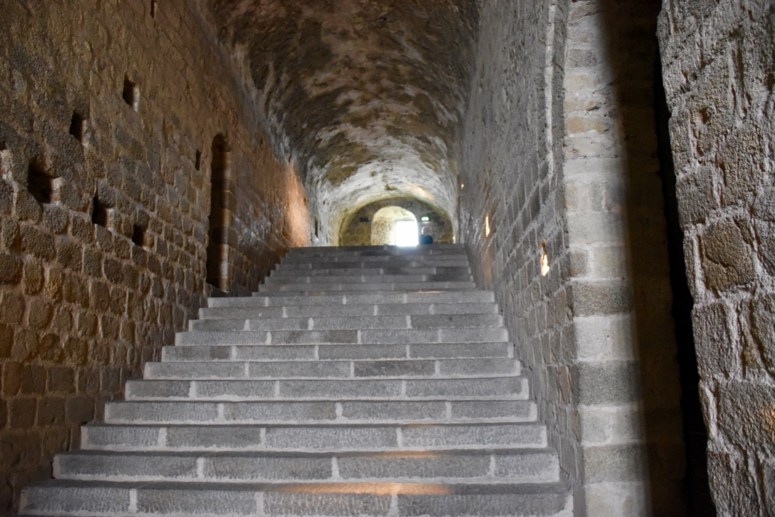 mont saint michel interior staircase