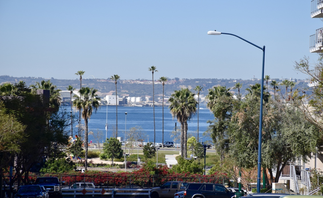 little italy view of san diego bay
