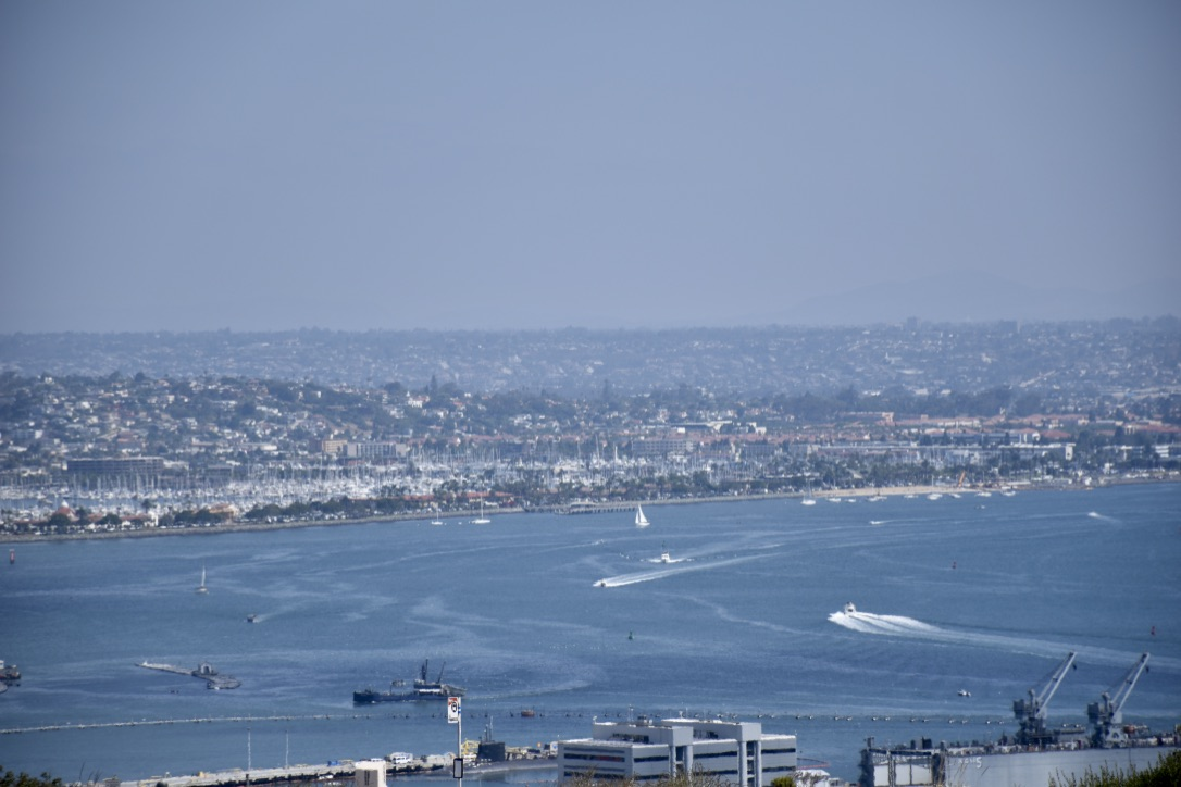 San Diego Harbor View from Cabrillo National Monument - the modern postcard