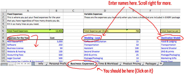 Making Sense of your Business Expenses: Photographer's Pricing Guide