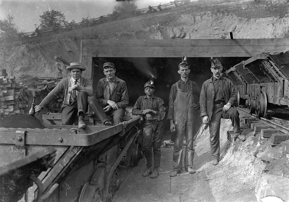 Coal miners in denim