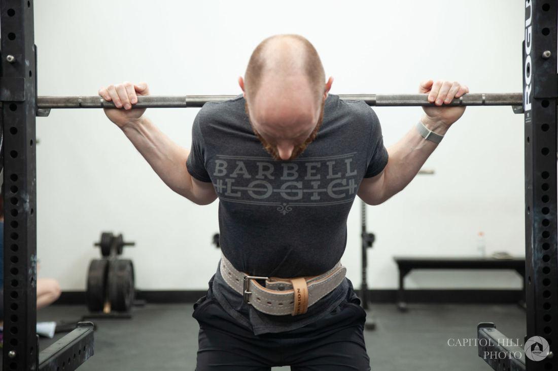 Dominion Strength grey suede belt