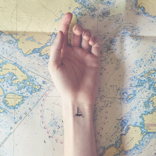 sail boat tattoo small delicate tattoo the modern hippie