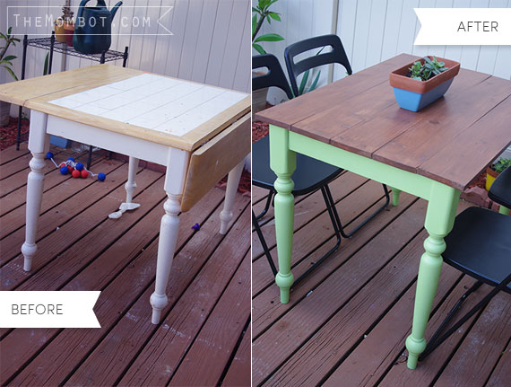 refurbished kitchen table gas range diy for the patio mombot